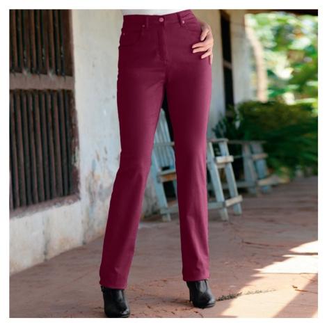 Kalhoty s 5 kapsami purpurová