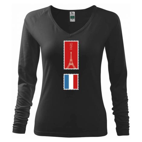 Paříž známka barevná - Triko dámské Elegance