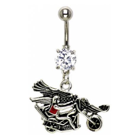 Piercing do pupíku jezdec na motorce s orlicí Šperky eshop