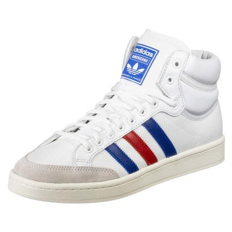 ADIDAS ORIGINALS Kotníkové tenisky 'Americana Hi' bílá / modrá / světle červená