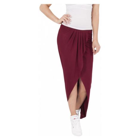 Ladies Long Viscon Skirt - burgundy Urban Classics