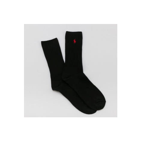 Polo Ralph Lauren Classic Cotton Crew Socks černé