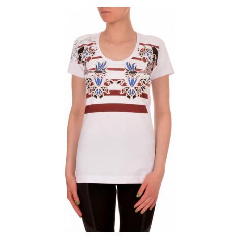 Bílé tričko se vzory JUST CAVALLI