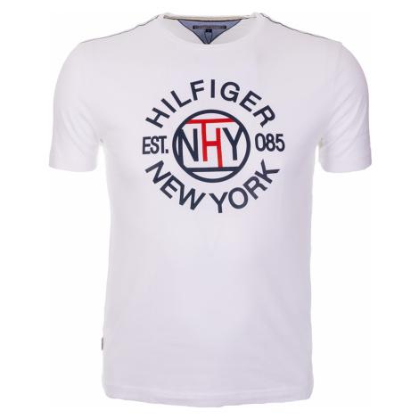 Pánské bílé tričko s kruhovým potiskem Tommy Hilfiger