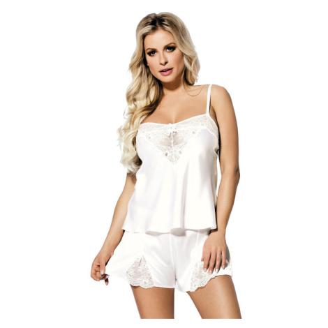 Bílé saténové pyžamo Zala DKaren
