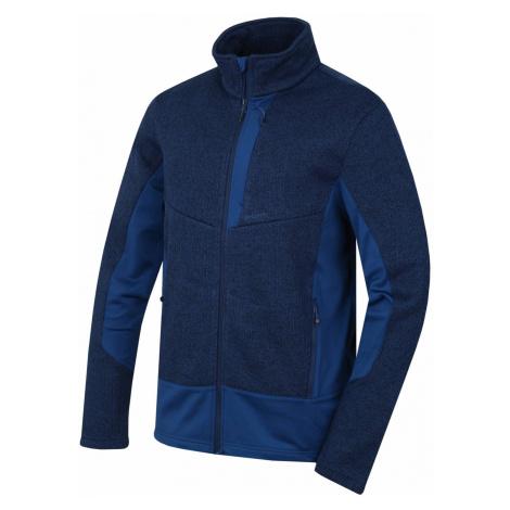 Husky Alan M, hluboká modrá Pánský fleecový svetr