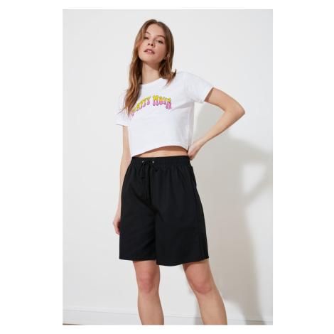 Trendyol Black Tie Shorts & Bermuda