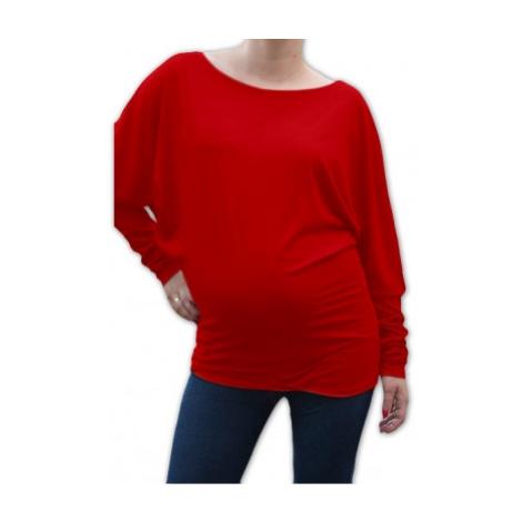 Be MaaMaa Symetrická těhotenská tunika - červená