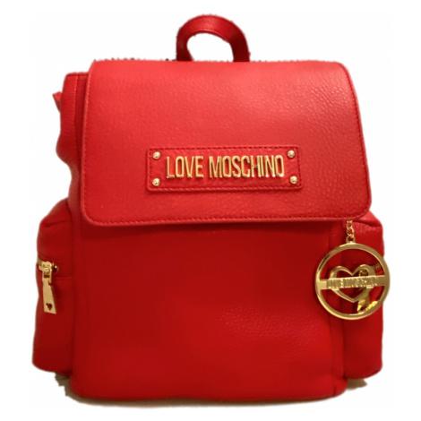 Červený kožený batoh LOVE MOSCHINO