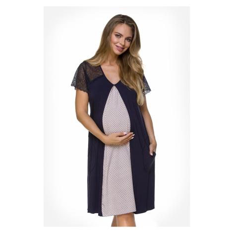 Těhotenská košilka Lily Blue Lupoline