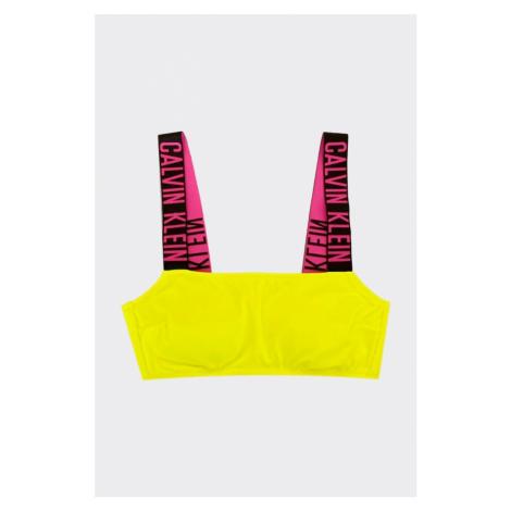 Calvin Klein Intense Power Bandeau vrchní díl plavek - neonově žlutá