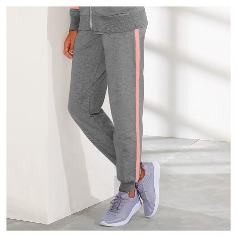 Blancheporte Sportovní kalhoty, dvoubarevné modrá džínová/bílá