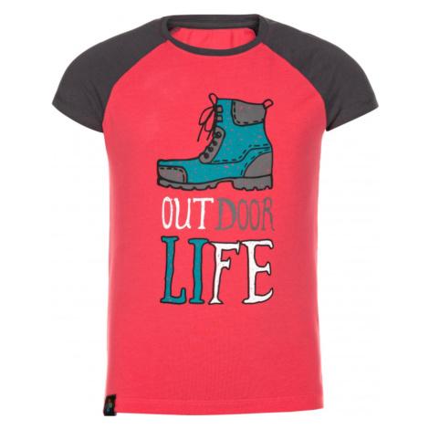 Girl's cotton t-shirt Moped-jg pink - Kilpi
