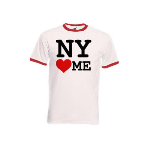 Pánské tričko s kontrastními lemy NY loves me