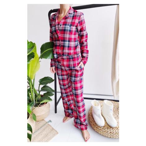 Emporio Armani Underwear Emporio Armani Holidays flanelové pyžamo dámské - červená