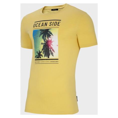 Pánské tričko Outhorn TSM621 Žluté