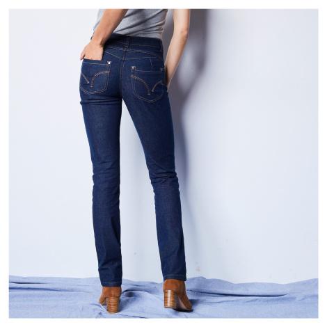 Blancheporte Rovné džíny s push-up efektem, certifikát Öko-Tex, barva brut tmavě modrá
