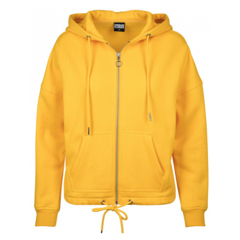 Dámská mikina Urban Classics Ladies Kimono Zip Hoody chrome yellow