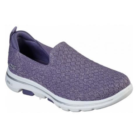 Skechers GO WALK 5 BRAVE fialová - Dámské nazouvací tenisky