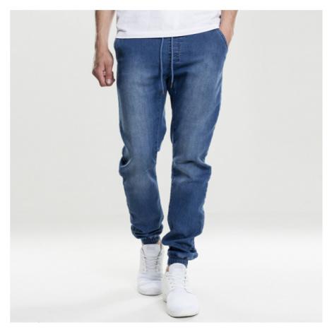 Urban Classics Knitted Denim Jogpants blue washed