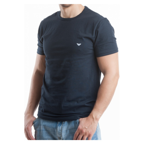 Pánské tričko Emporio Armani 111267 CC717 MB Tm. modrá