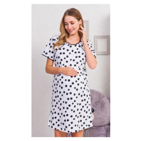 Dámská noční košile mateřská Katka, XL, bílá Vienetta Secret