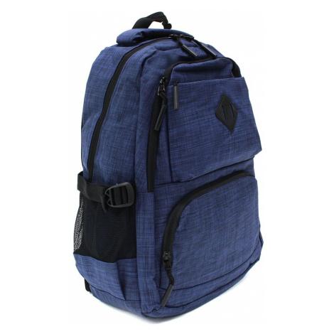Tmavě modrý studentský prostorný zipový batoh Maxton Tapple