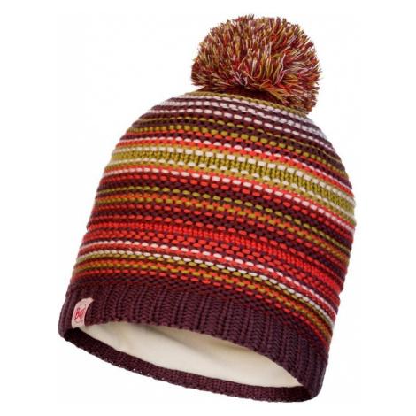 Čepice Knitted a Polar Fleece Hatt Buff JR Amity - hnědá/oranžová