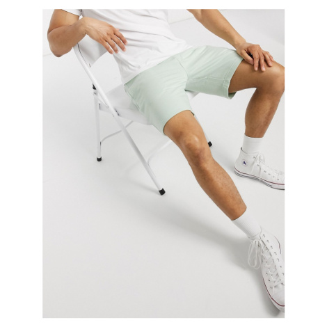 French Connection jersey shorts in sage-Green