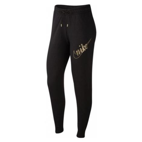Nike NSW PANT FLC GLETTER W černá - Dámské tepláky