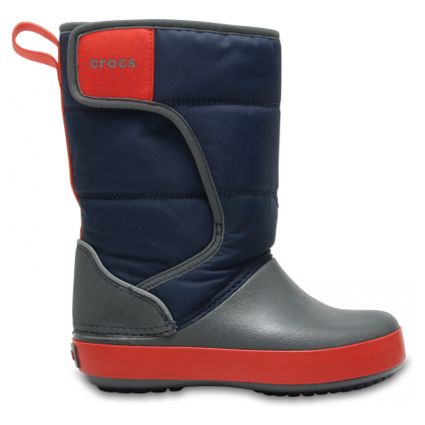 Crocs LodgePoint Snow Boot K Nvy/SGy J3
