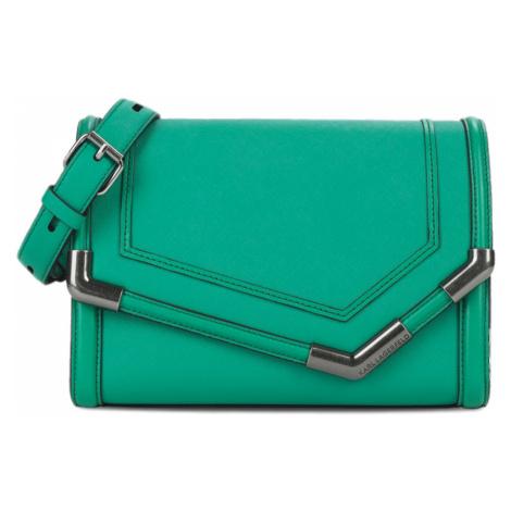 Zelená kožená kabelka - KARL LAGERFELD
