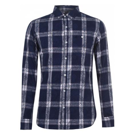 Kangol Check Long Sleeve Shirt Mens