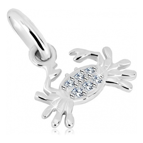 Stříbrný přívěsek 925 - krab s čirými blýskavými zirkony, znamení RAK Šperky eshop