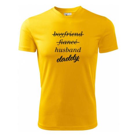 Partnerské triko nastávající rodiče - Pánské triko Fantasy sportovní (dresovina)