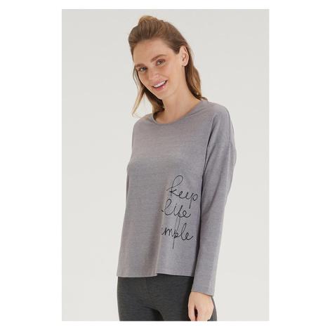 Dámské šedé tričko s dlouhým rukávem Blackspade