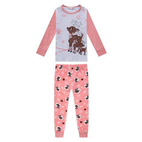 Dívčí pyžamo - KUGO MP1307, růžová světlá