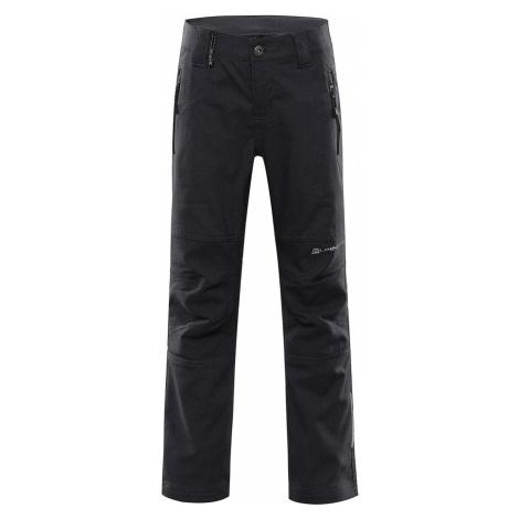 ALPINE PRO PLATAN 4 Dětské softshellové kalhoty KPAR158990 černá