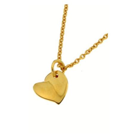 Pozlacený dámský náhrdelník se srdíčkem