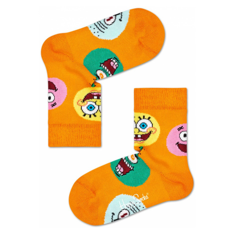 Kids Sponge Bob Circle Of Friends Sock Happy Socks
