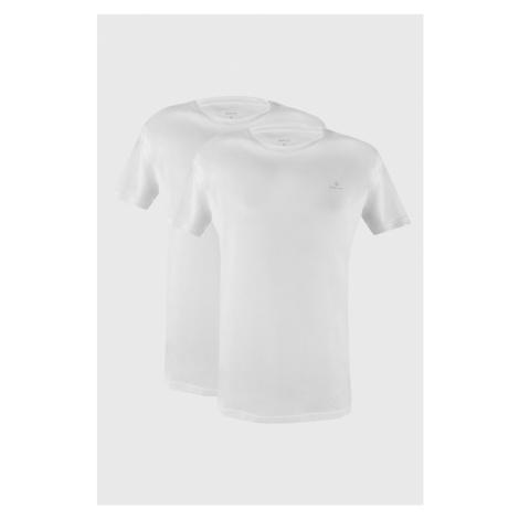 2 PACK bílých triček GANT Crew