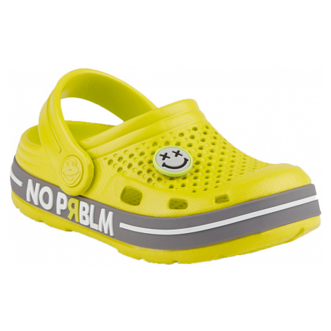 COQUI LINDO Dětské sandály 6423-599 Citrus/Mid. Grey