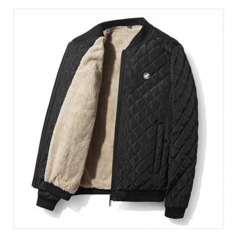 Prosívaná bunda pánská bomber větrovka na zip se zateplenou podšívkou