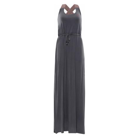 ALPINE PRO ZELDA Dámské šaty LSKR224770 šedá