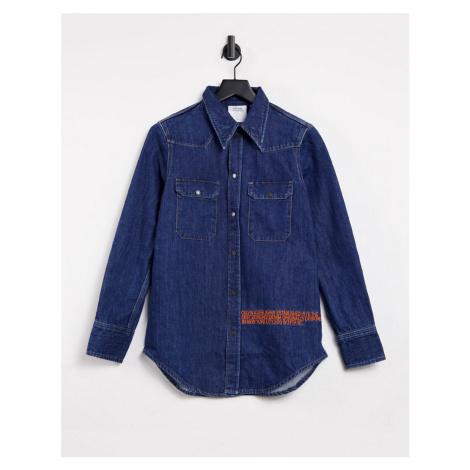 Calvin Klein EST 1978 western shirt in dark blue