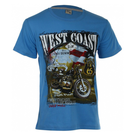 Pánské bavlněné tričko s krátkým rukávem a potiskem motorky