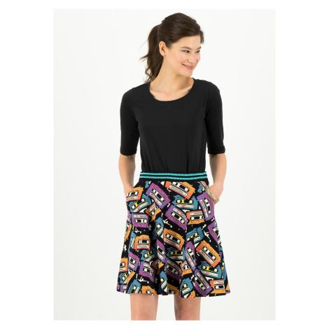 Udržitelná áčková sukně černá z bavlny Blutsgeschwister Pop art