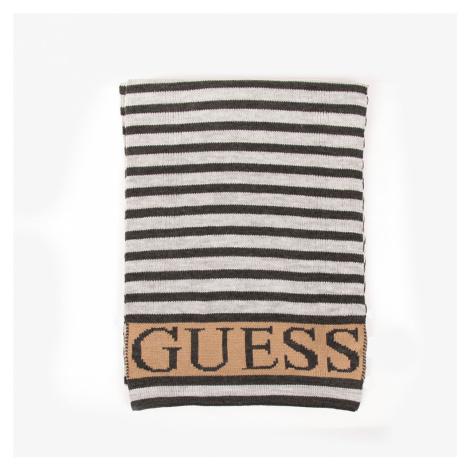 Guess dámská šedá pruhovaná šála