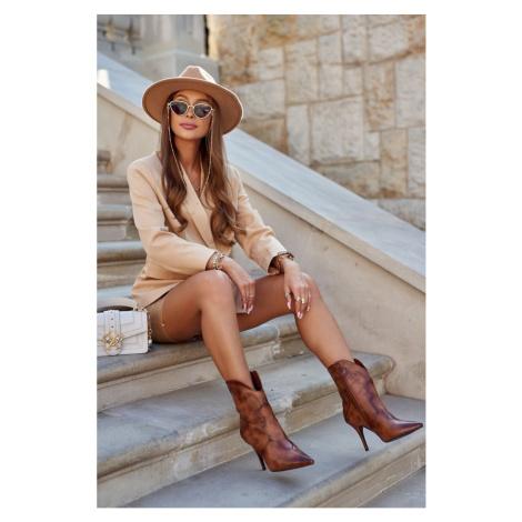 Women's Boots On High Heel Brown Estella
