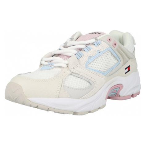 Tommy Jeans Tenisky béžová / bílá / pastelově růžová / světlemodrá Tommy Hilfiger